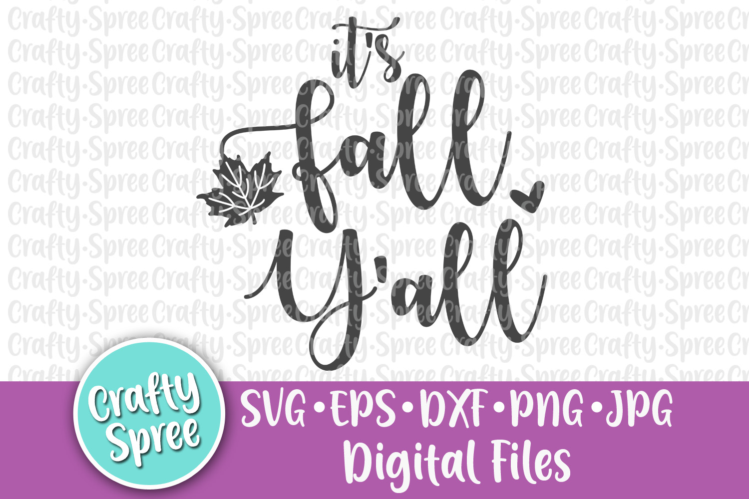 It's Fall Y'all SVG PNG DXF Cut File example image 1