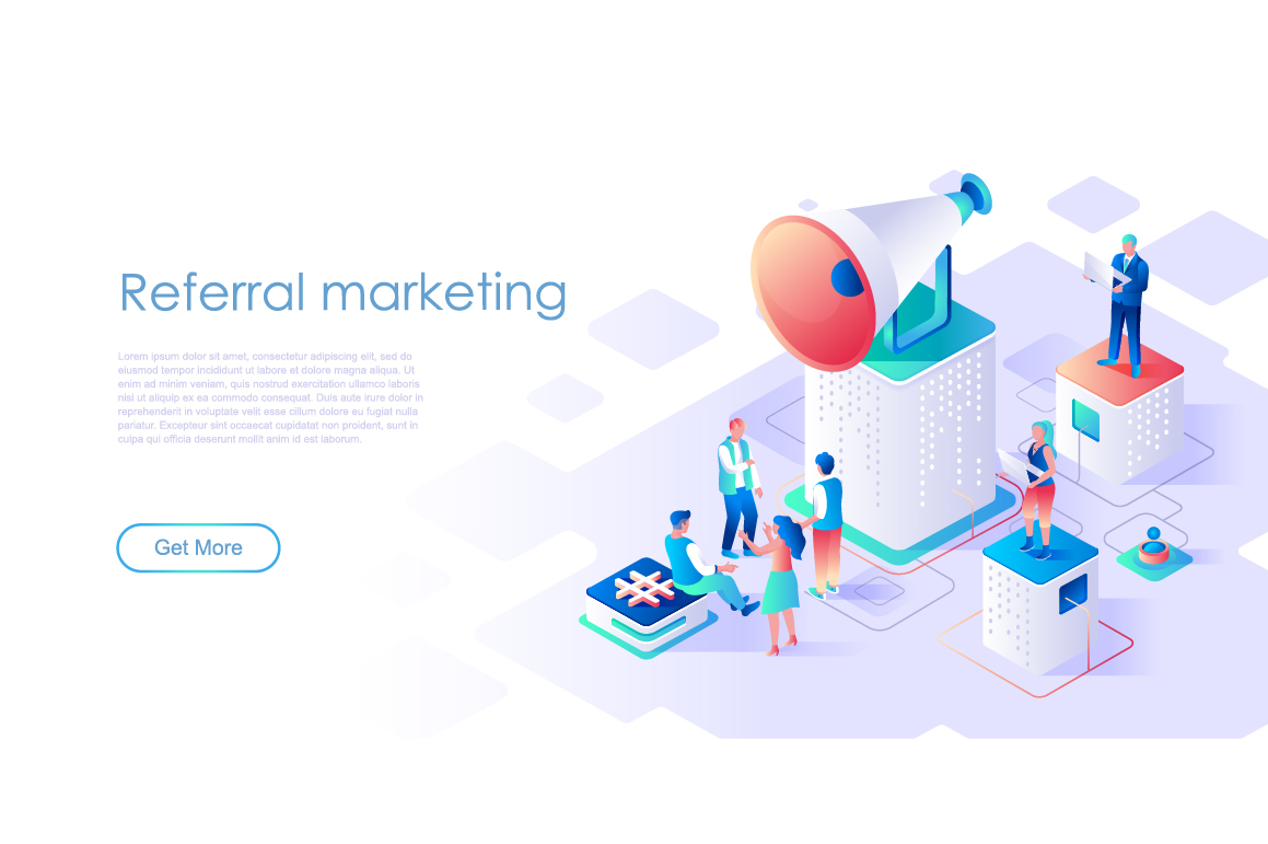 Bundle Isometric Landing Page Template Header example image 11
