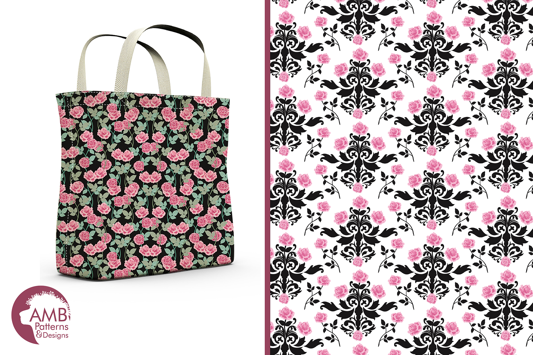 Shabby Pink Spade Patterns Pink Floral Papers Amb 1421