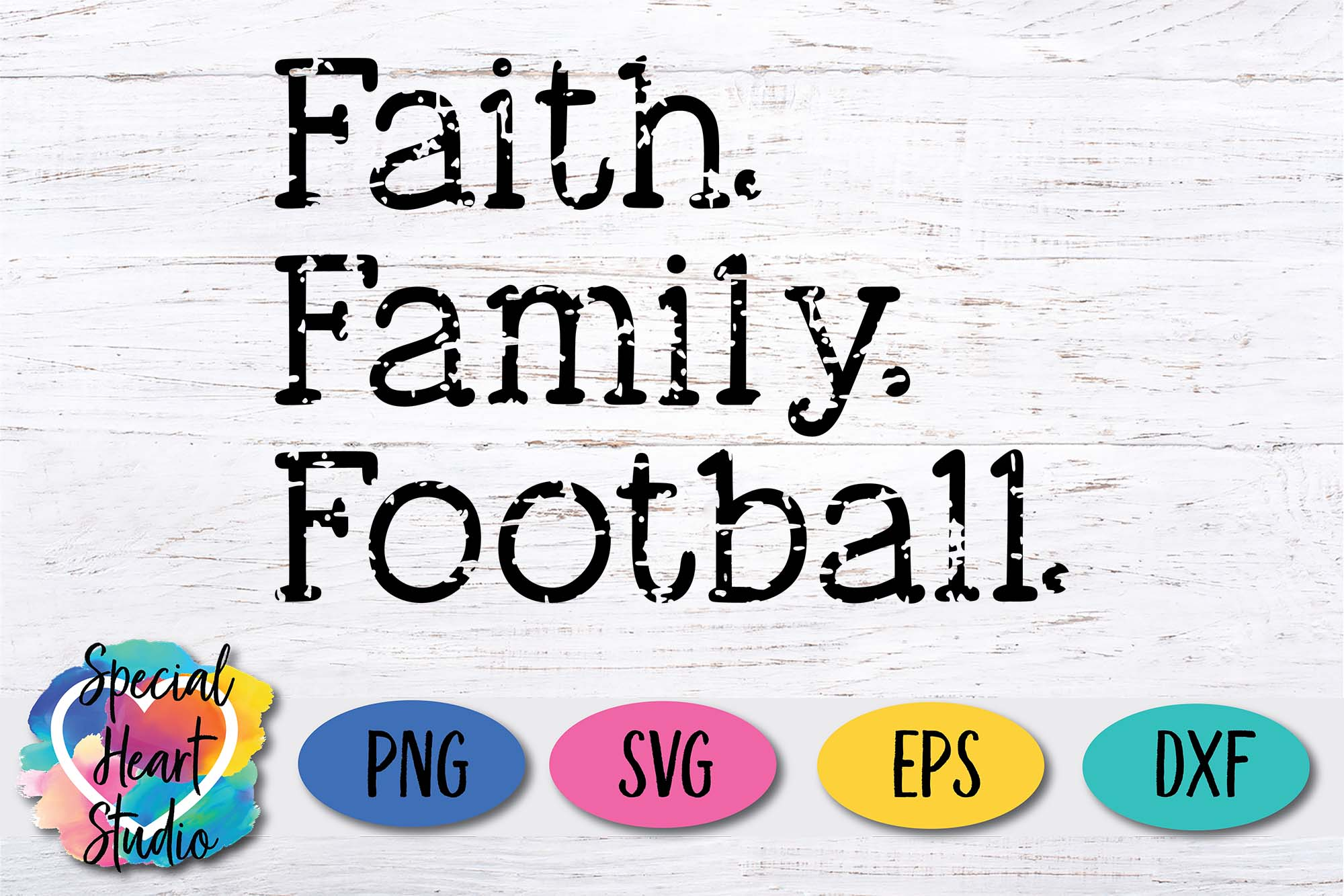 Faith. Family. Football. - A fall football Fan SVG Cut file example image 2