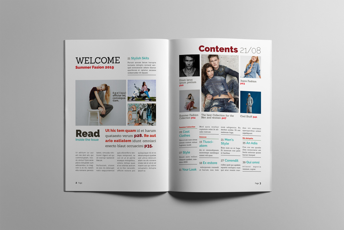 Magazine layout design example image 2