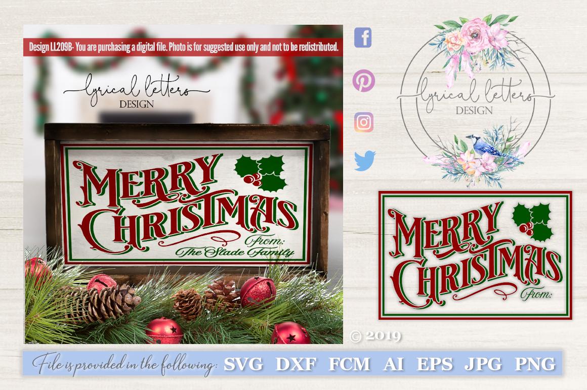 Merry Christmas With Holly Christmas Svg Cut File Ll209b 112994 Cut Files Design Bundles