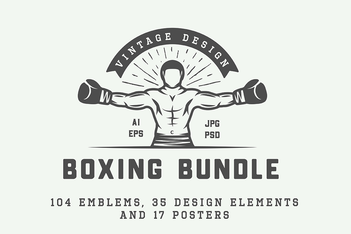 Vintage Boxing Bundle example image 1