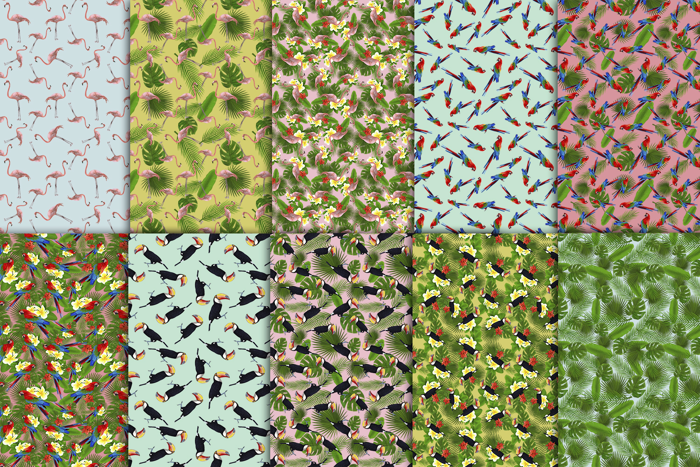 TROPICANA watercolor clipart set example image 5