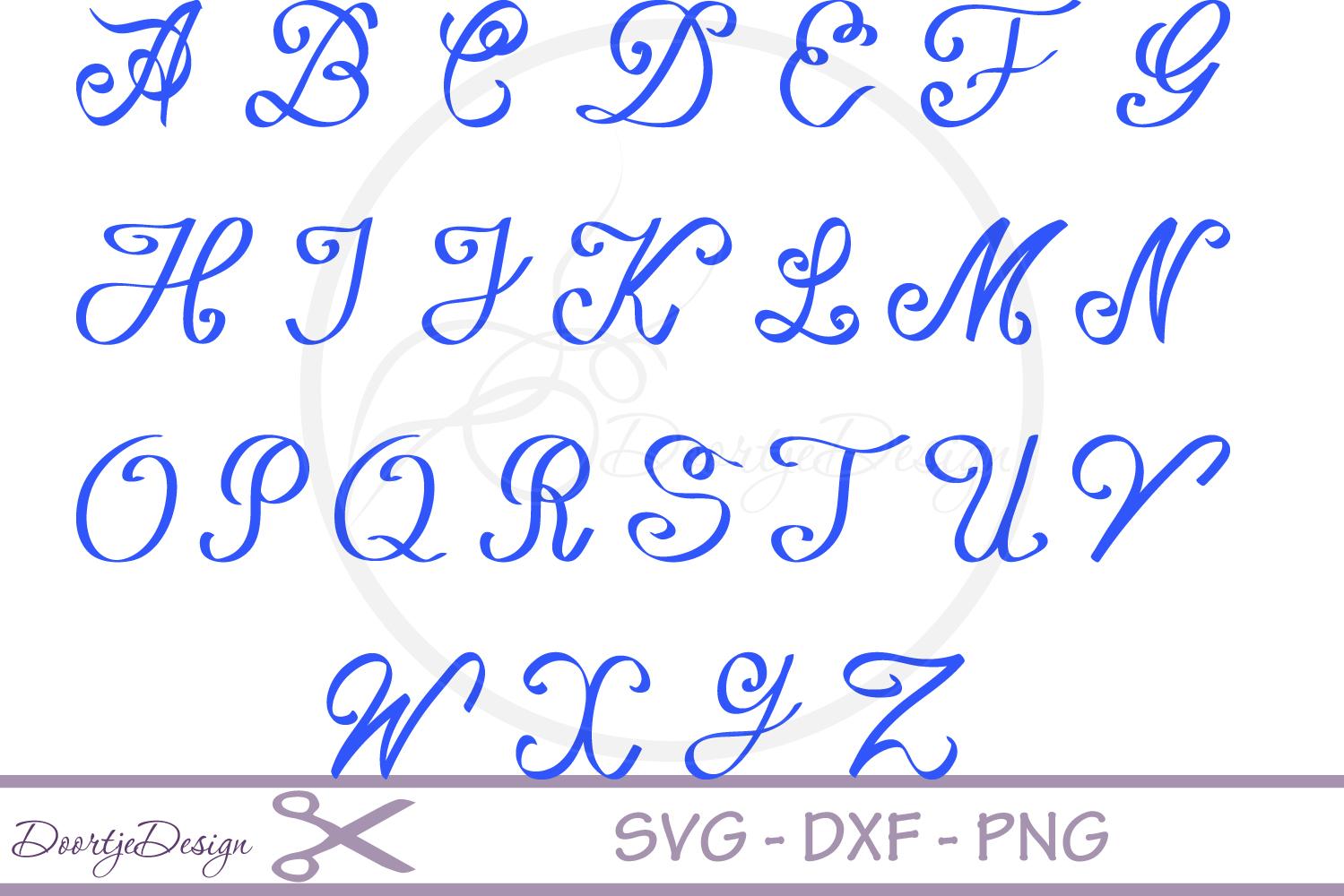 Script Alphabet Font SVG example image 2
