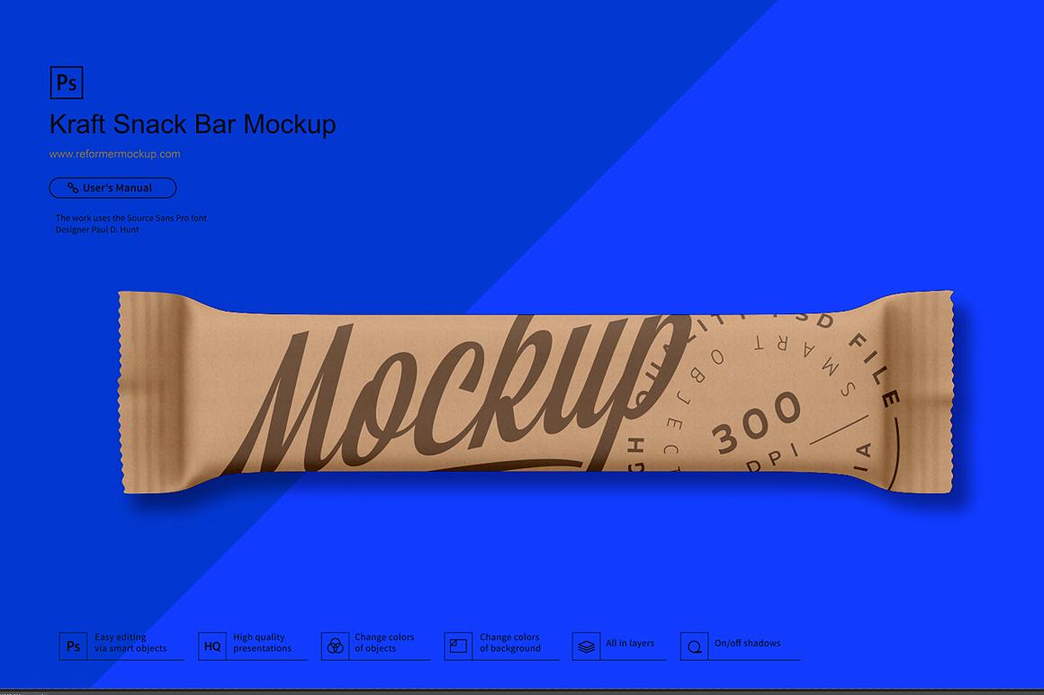 Kraft Snack Bar Mockup example image 3