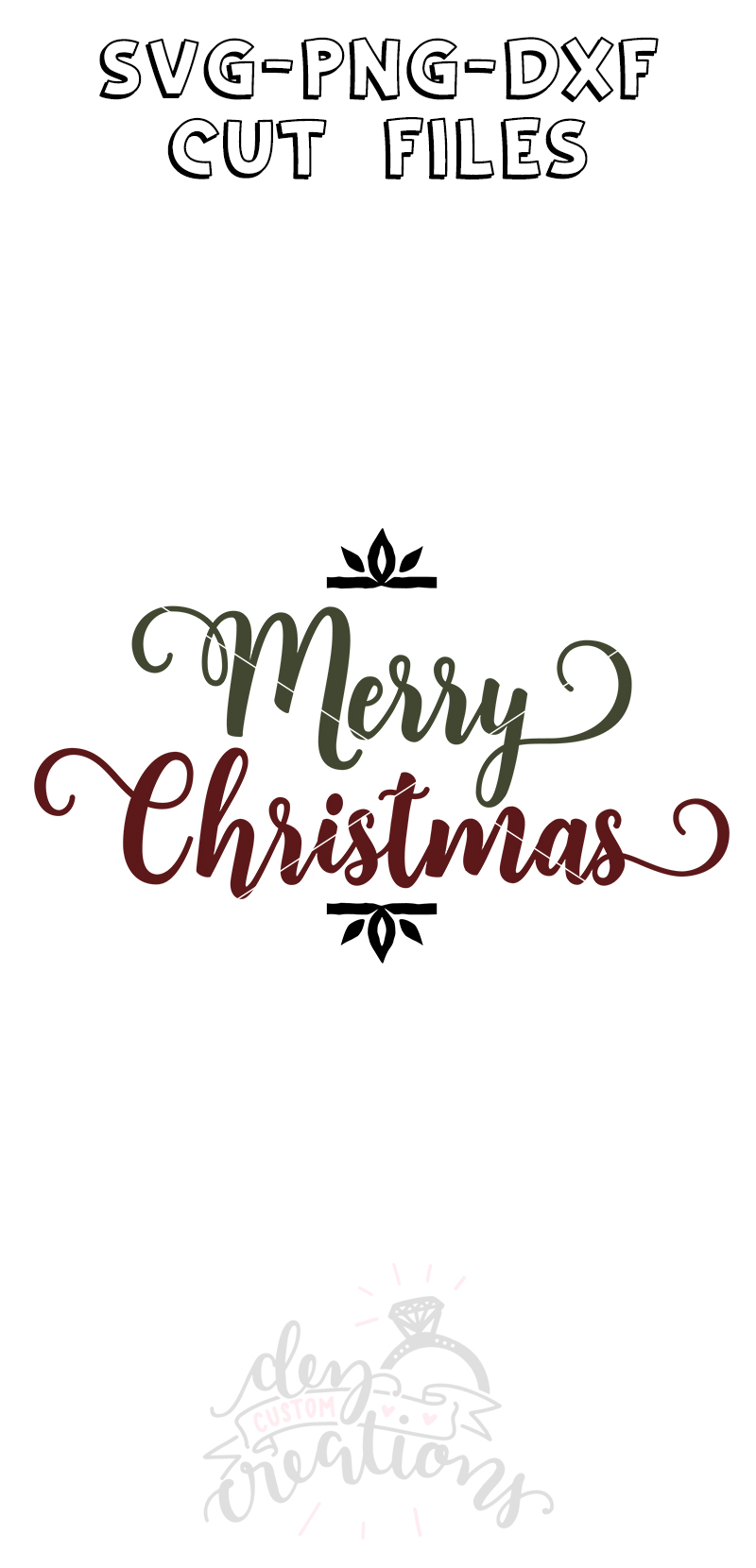 Merry Christmas - SVG DXF PNG Cut files example image 2
