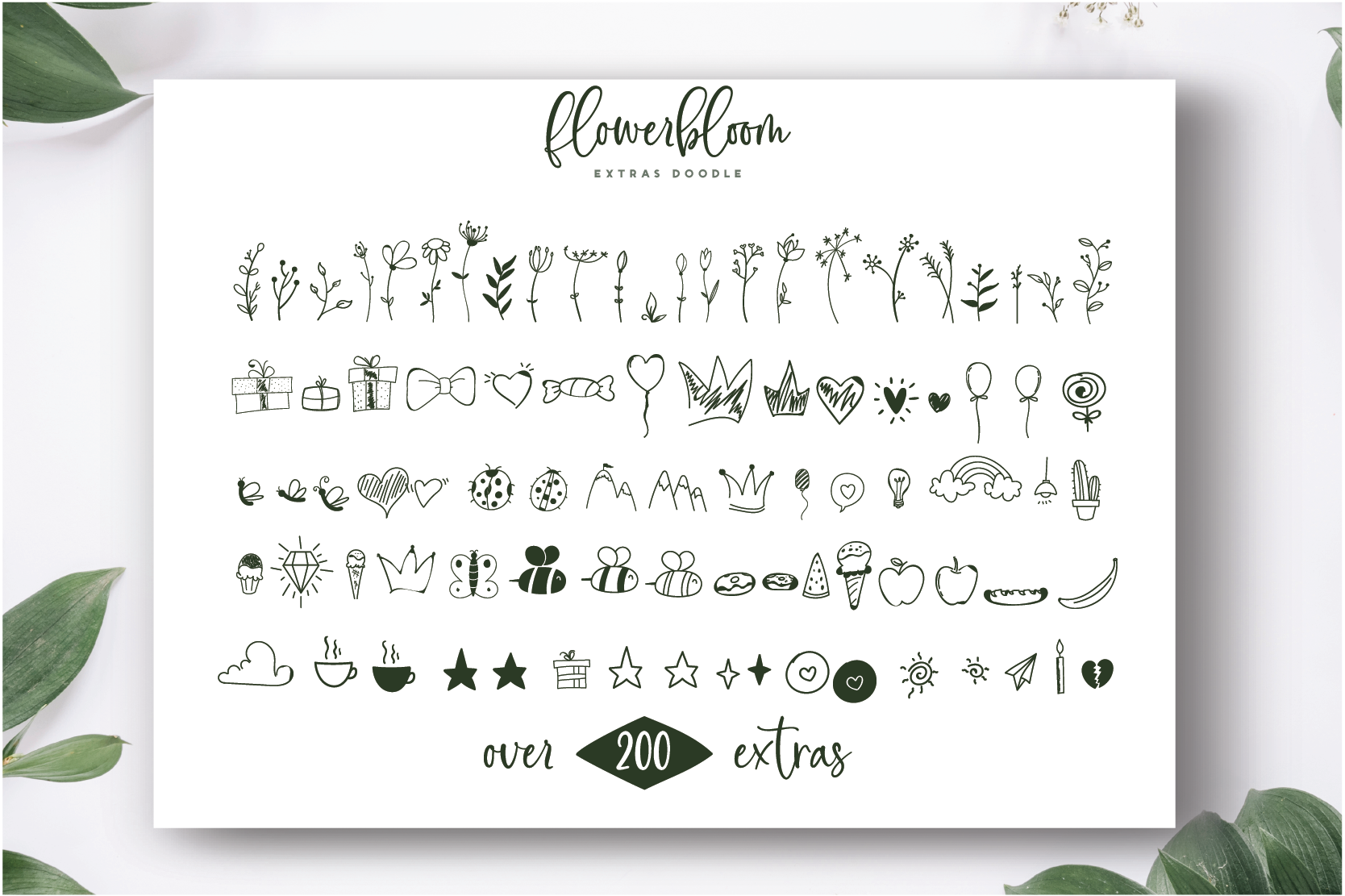 Flowerbloom Font Trio example image 10
