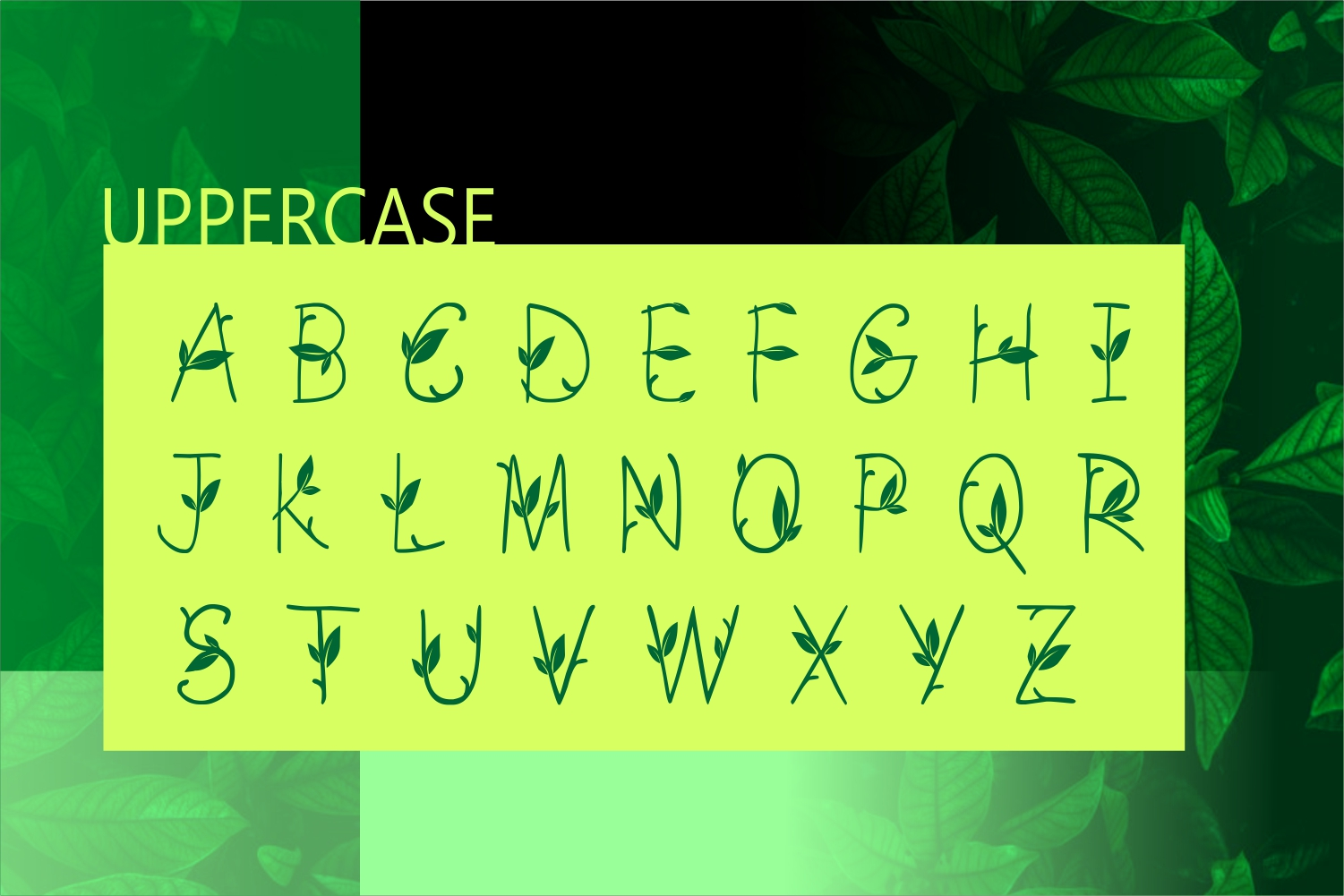 GREEN NATURE FONT example image 2