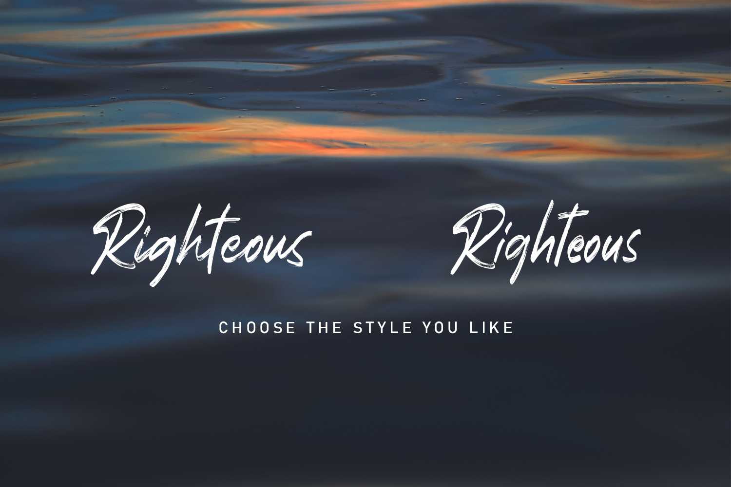 Righteous Handwritten Typeface Brush example image 2