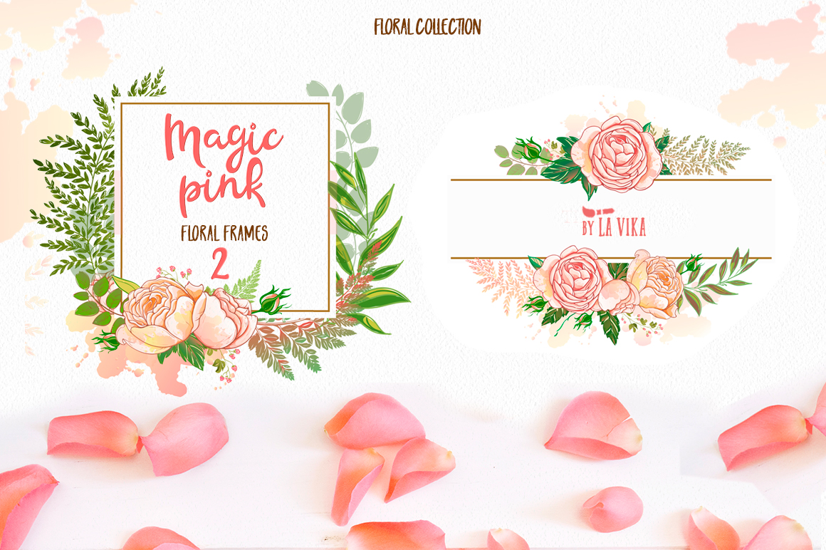 Vector graphics collection: Magic pink example image 2