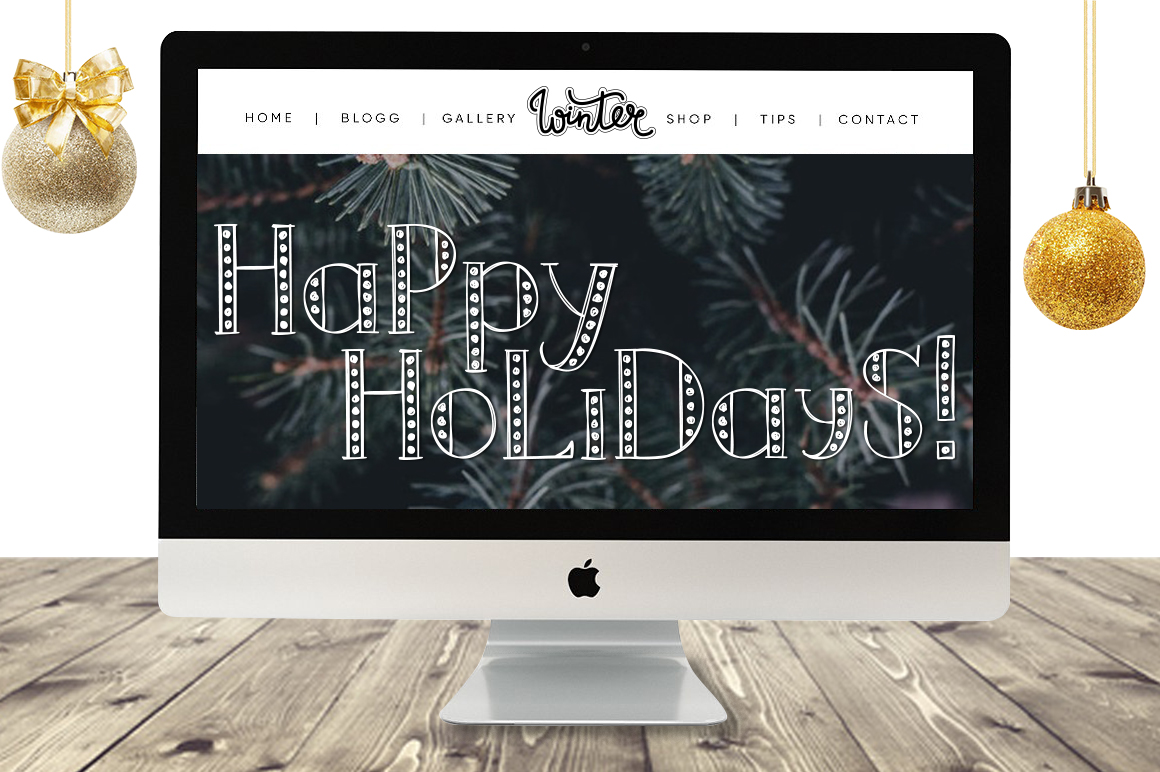 MERRY LIGHTS - hand drawn Christmas font example image 2
