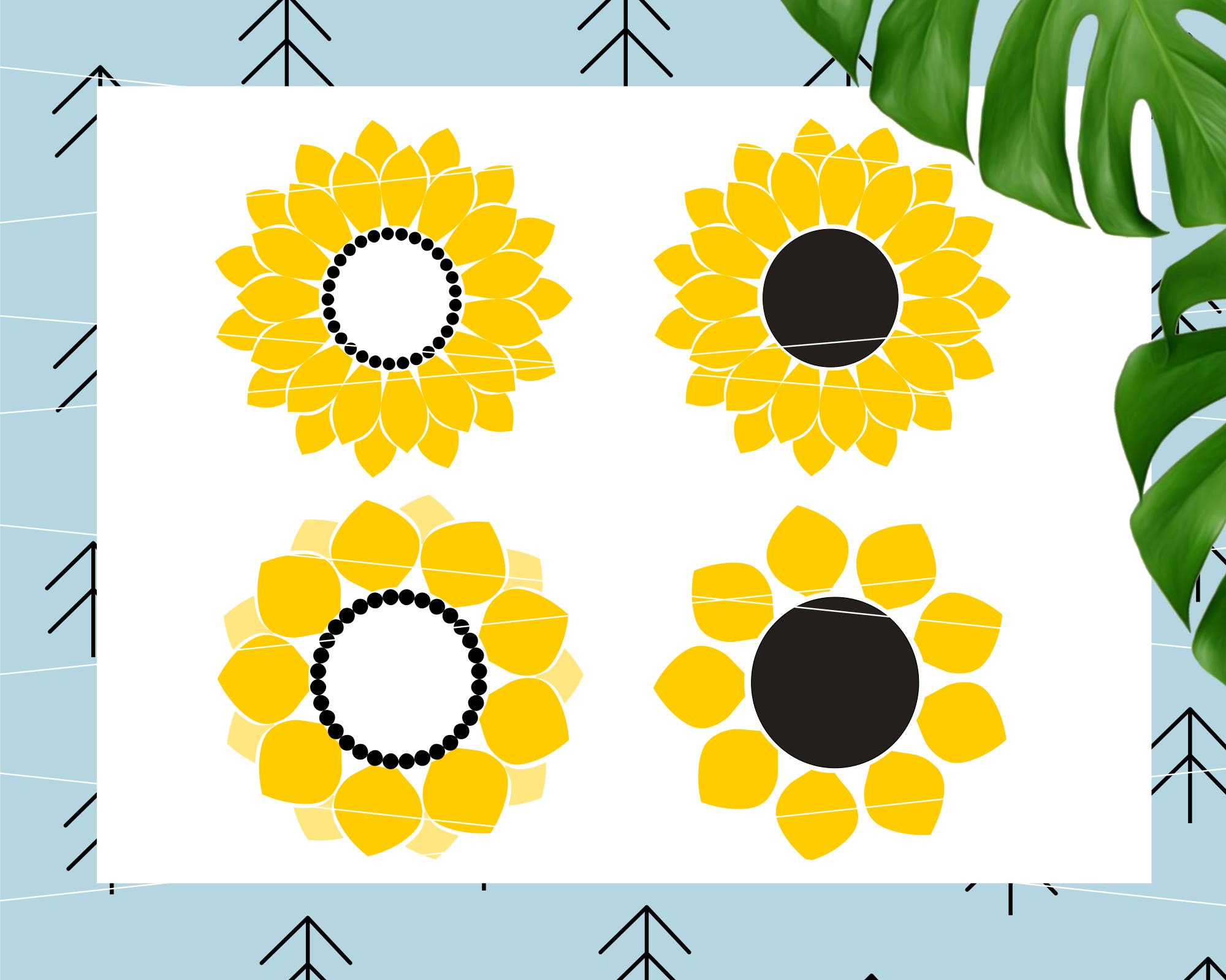 Sunflower svg example image 1