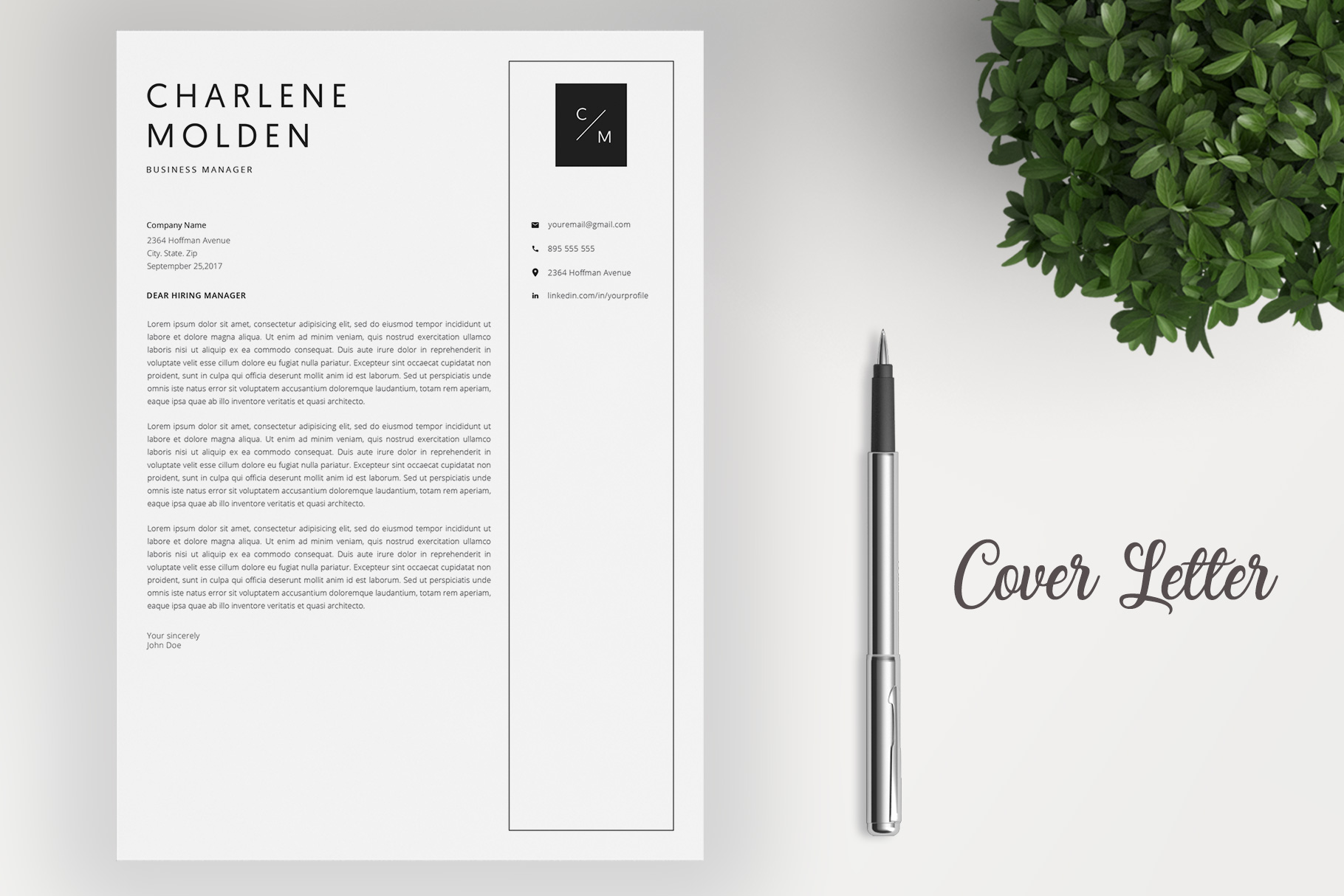 Creative Resume Template   Cover Letter example image 4
