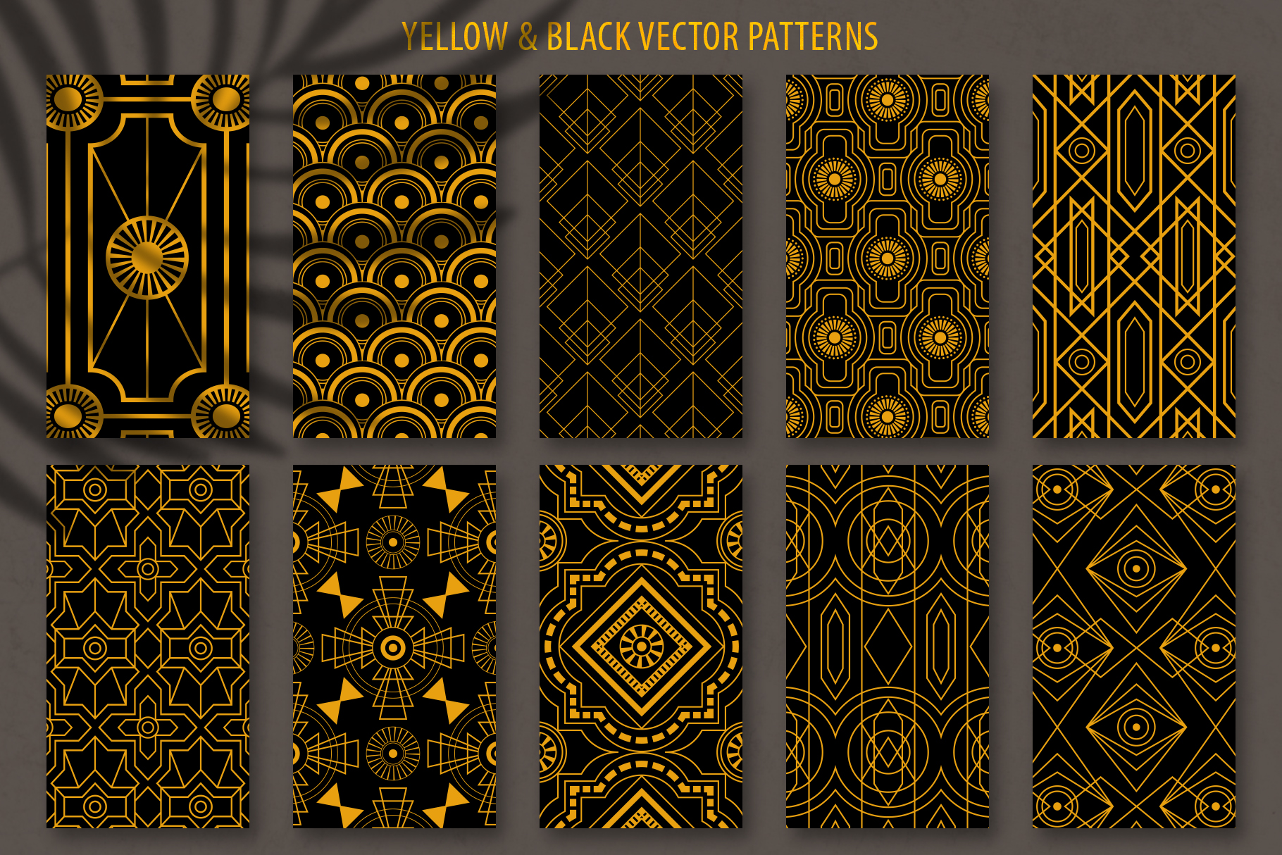 Geometric Art Deco Patterns - 20 Seamless Vector Patterns example image 8