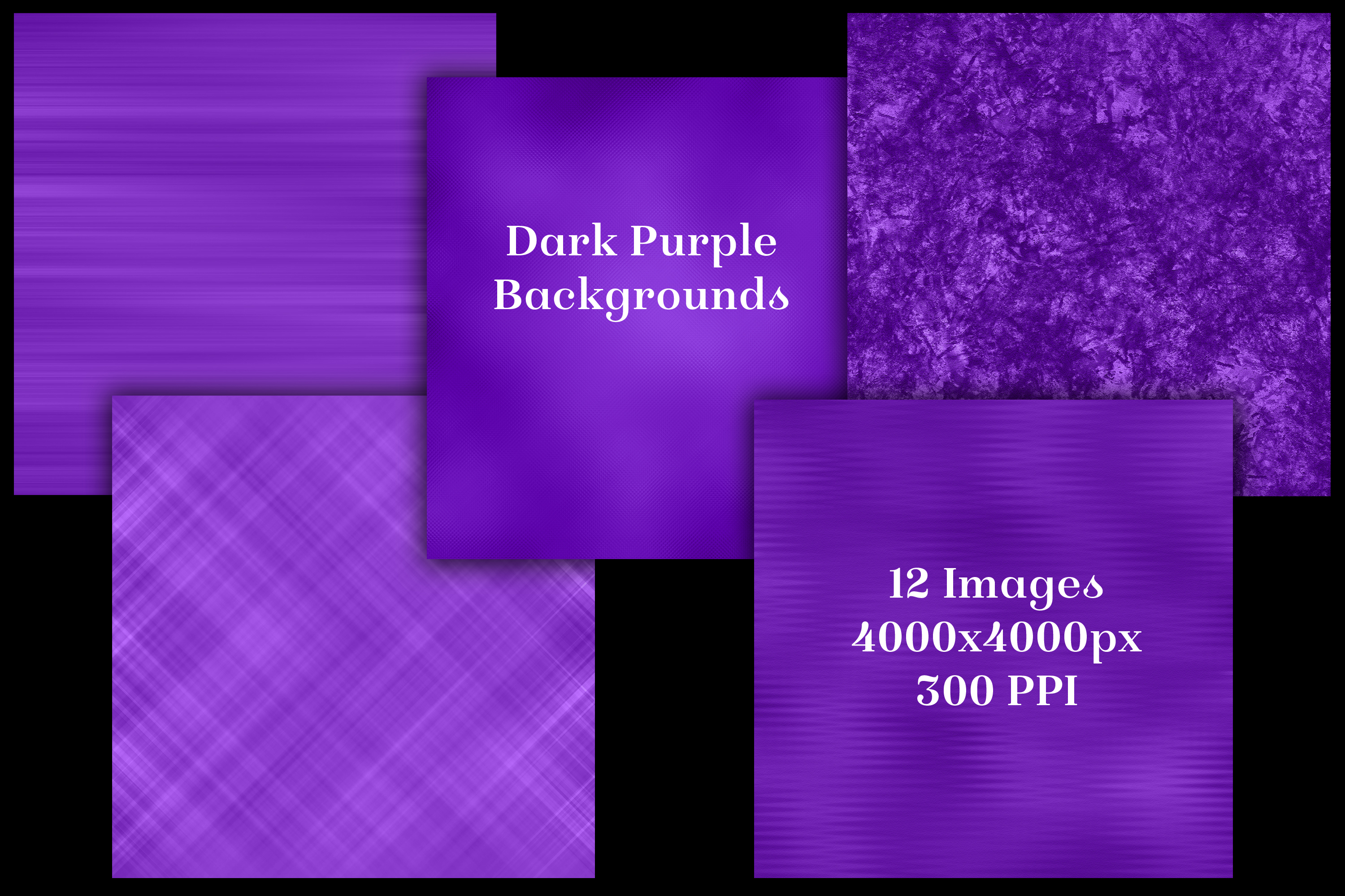 Dark Purple Backgrounds - 12 Image Set example image 2