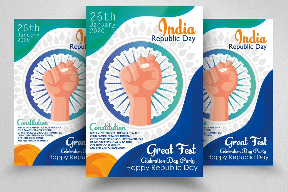 Indian Rebublic Day Flyer Template example image 1