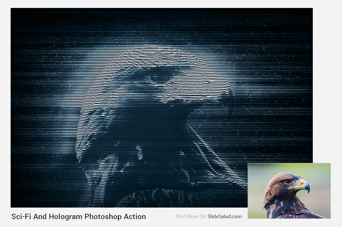 Sci-Fi And Hologram Photoshop Action example image 19
