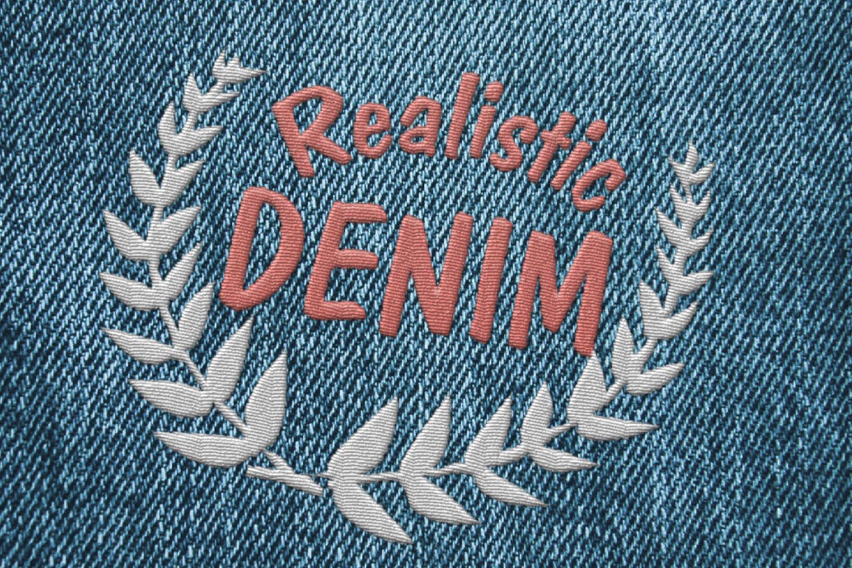 15 Denim Jean Fabric Textures JPG example image 6