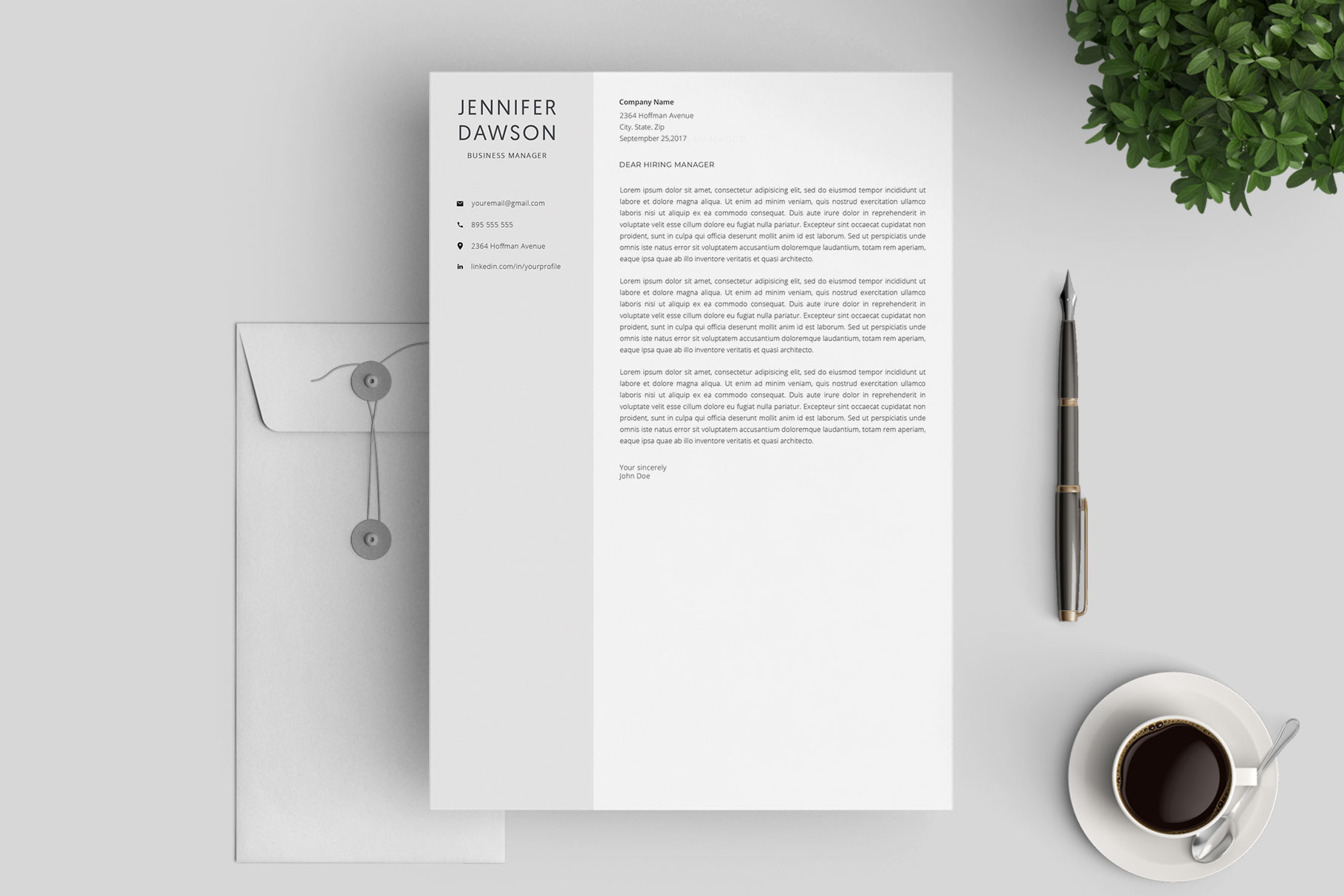 Resume Template and Cover Letter / 4 Pages example image 4