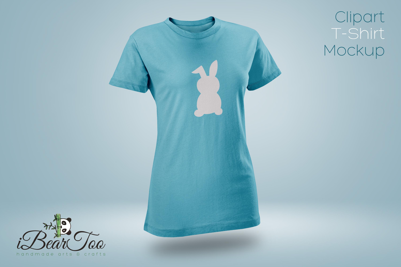 Rabbit SVG Black Clipart Bunny Drawing Vector Cut Files example image 9