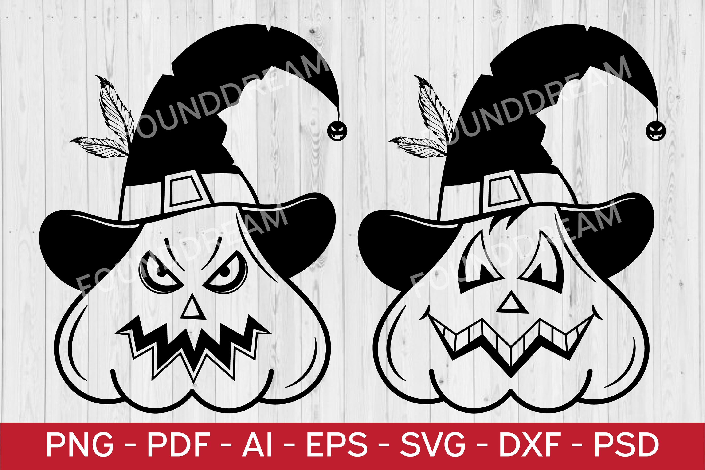 Halloween Pumpkins SVG   vector files example image 1