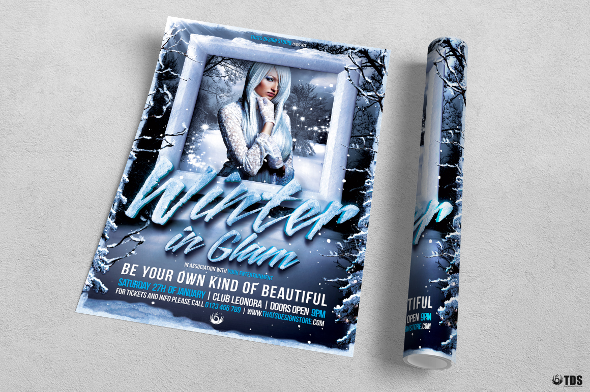 Winter Glam Flyer Template V1 example image 3