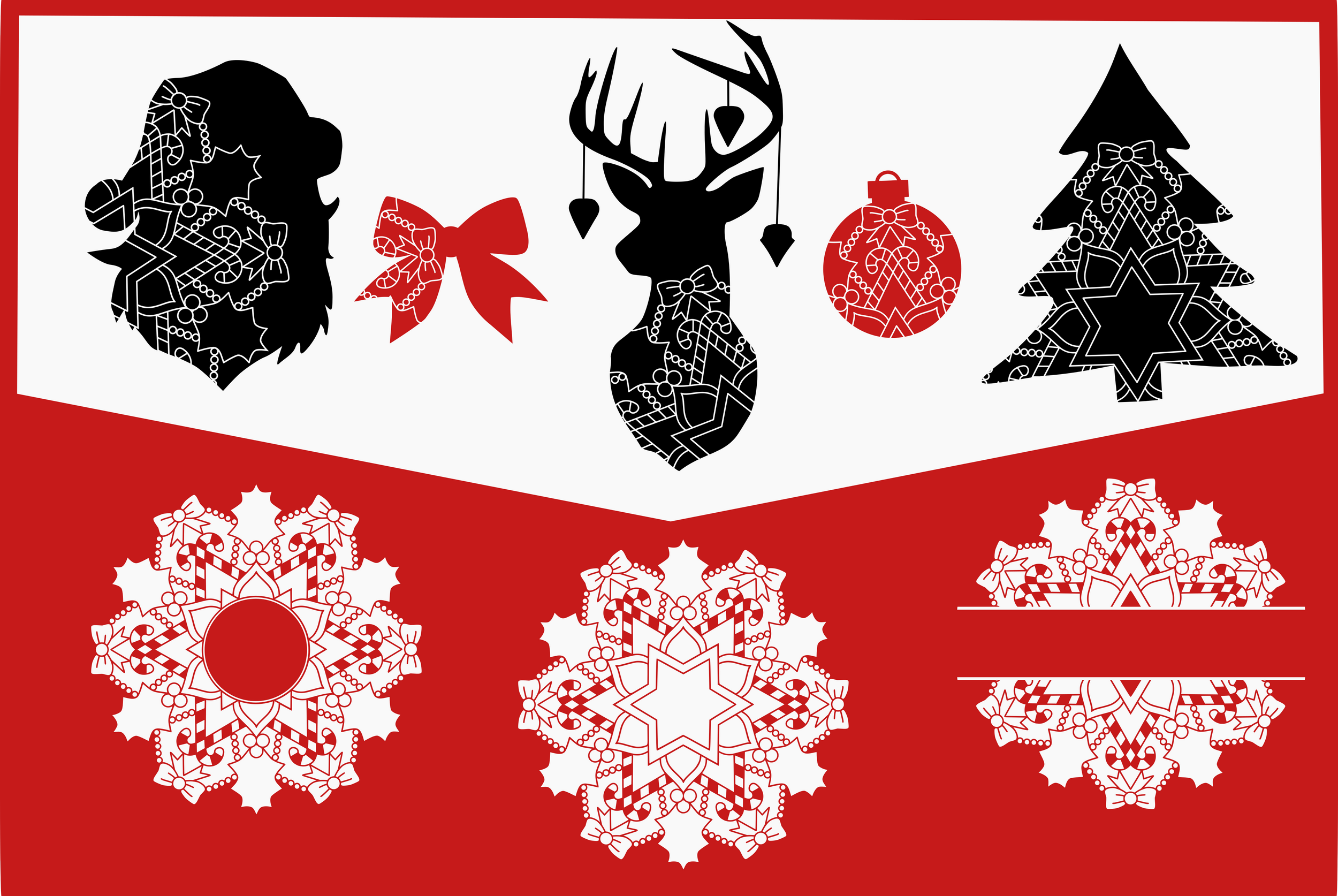 Christmas Bundle svg dxf eps png example image 2