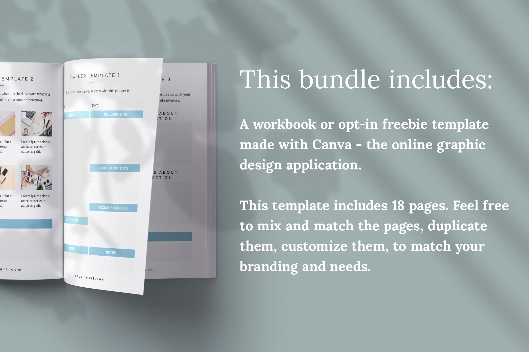 Workbook or Opt-in Freebie Canva Template | Colfax example image 2