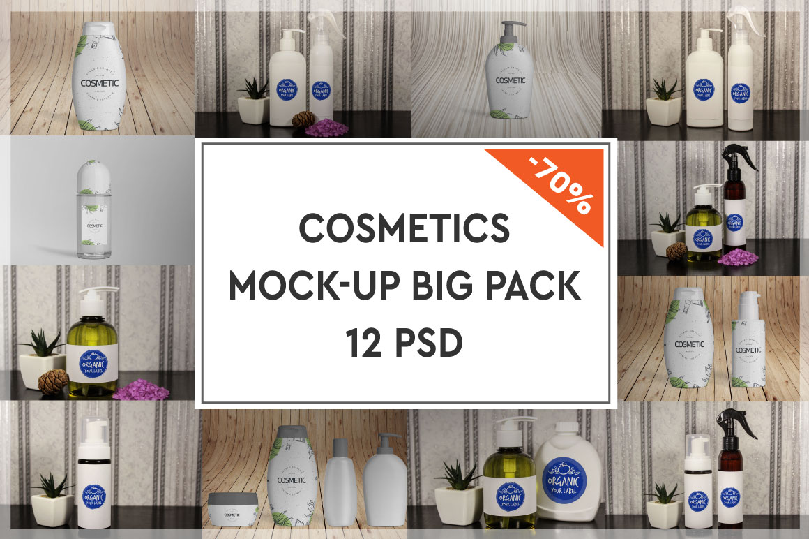 Cosmetics Mock-up Big Pack #1 example image 1