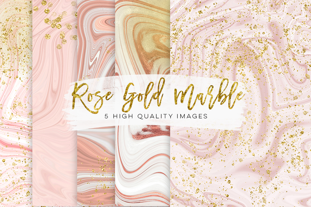 Gold and rose gold marble, pink glitter marble, glam rose gold planner paper, gold printable paper, rose gold decor, white gold marble, pink example image 1