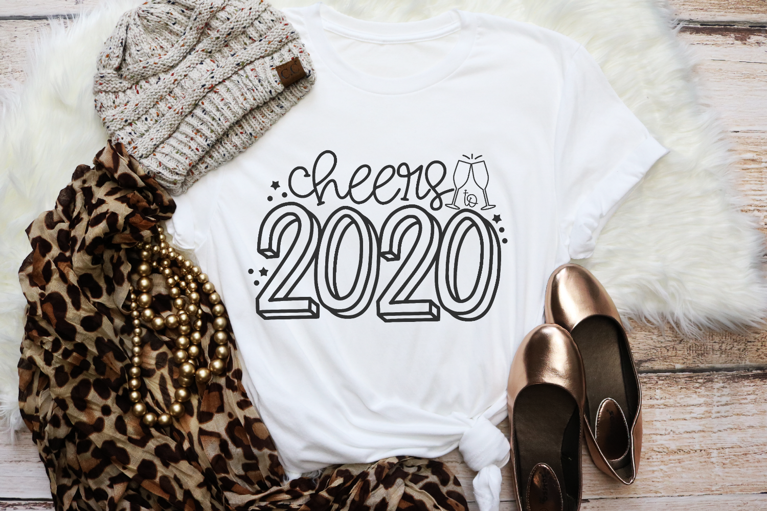 New Years - Cheers To 2020 SVG example image 2