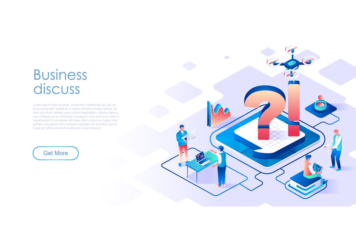 Bundle Isometric Landing Page Template Header example image 16