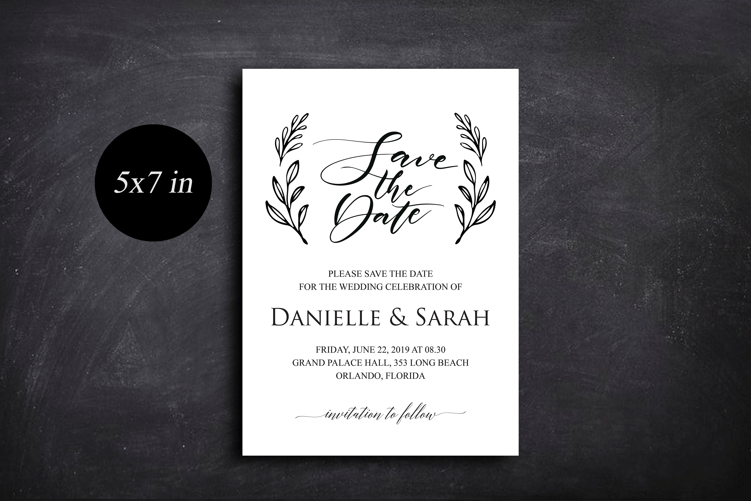 Save the Date Invitation, Save the Date Template example image 4