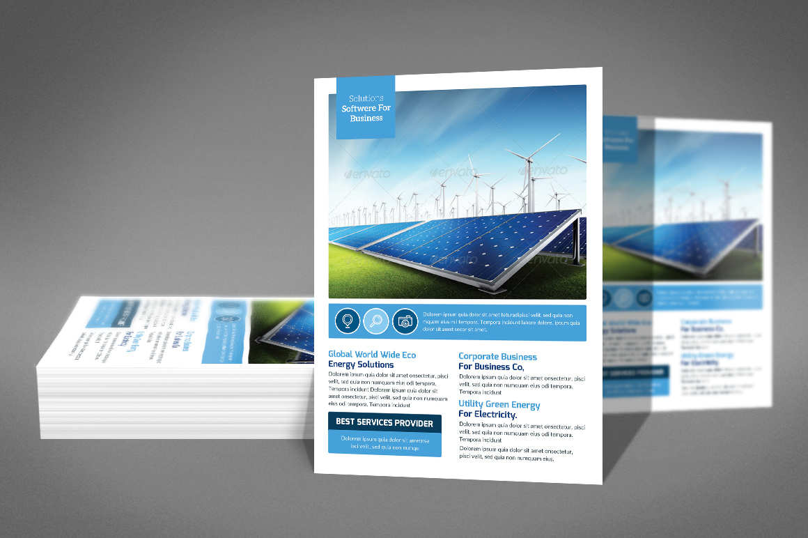 Green Energy Flyer Psd example image 2