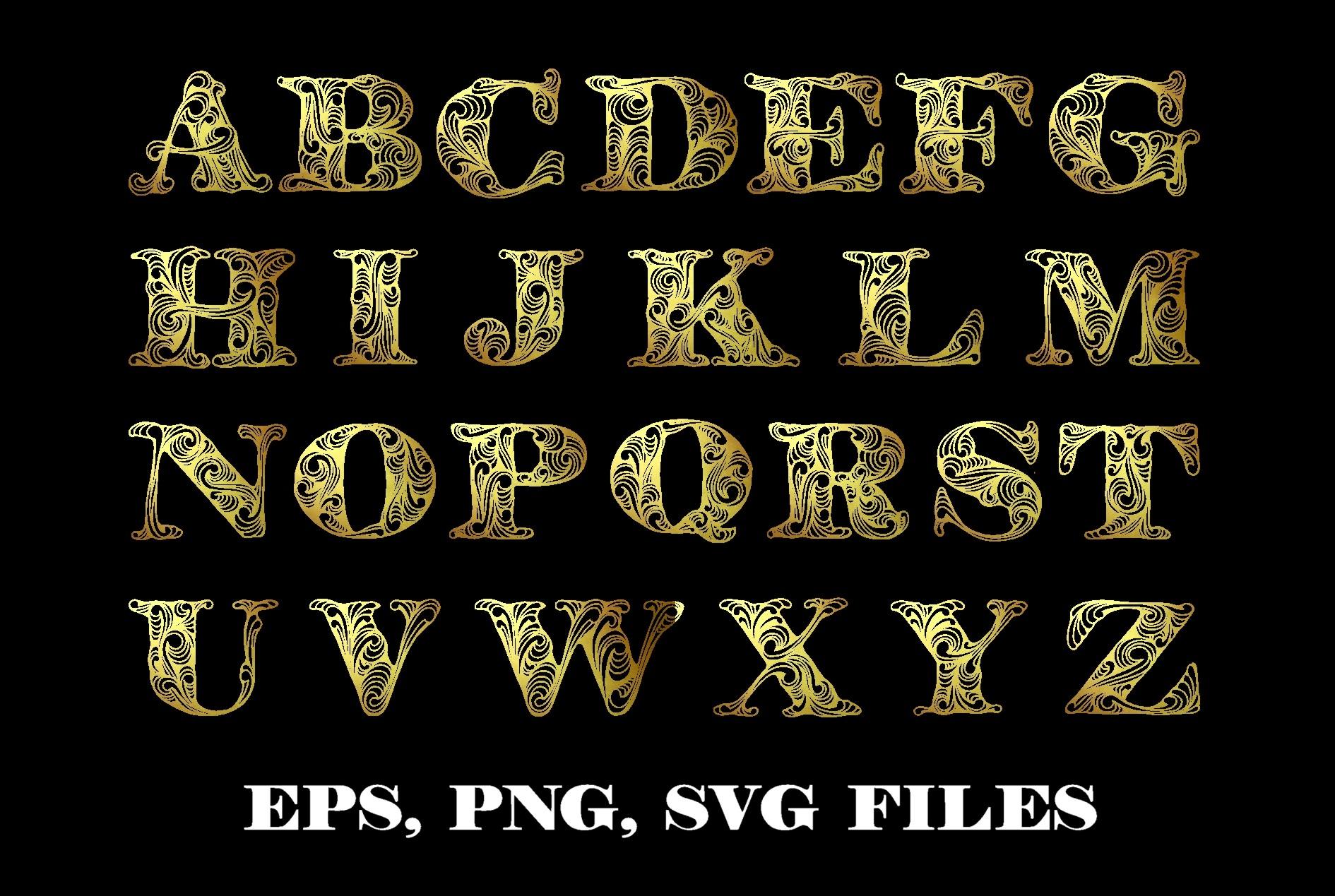 Alphabet clipart & vector example image 2