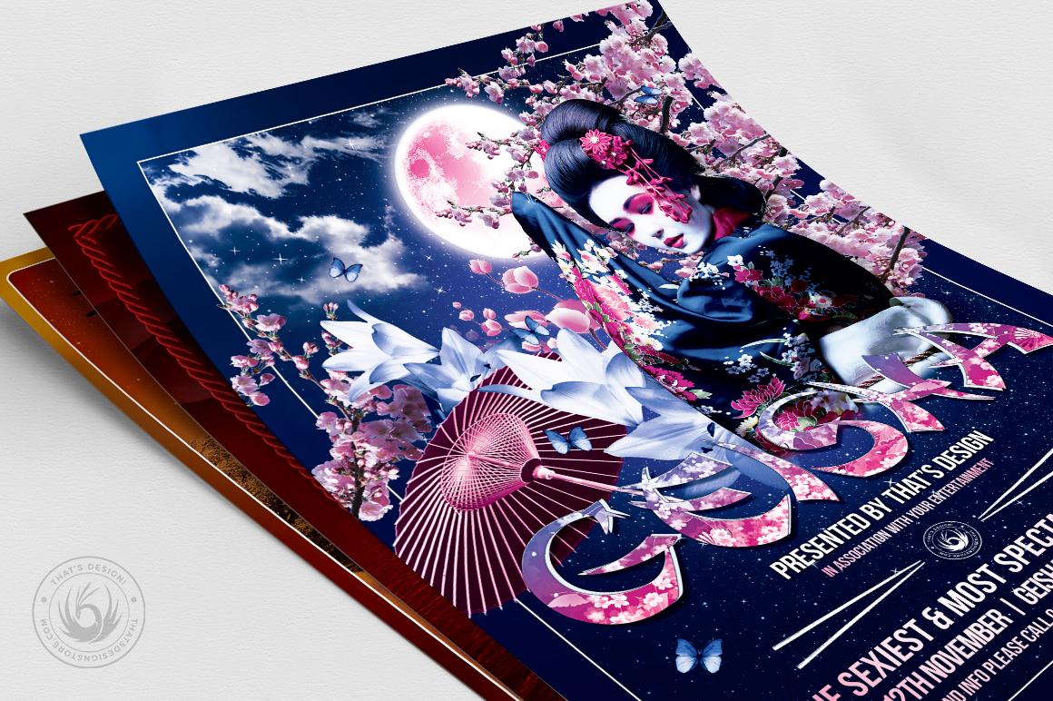 Geisha Night Flyer Bundle example image 5