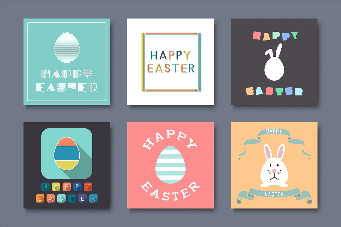 Holiday Greeting Easter Cards. example image 1