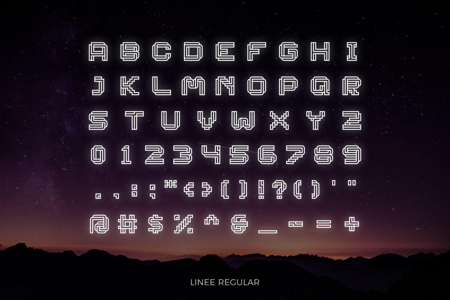 LINEE Display - Scifi & Modern Look example image 3