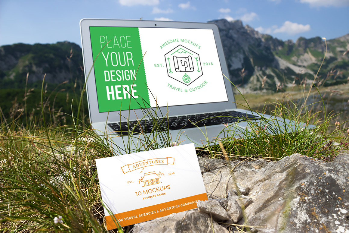 10 Fresh Business Card Mockups vol.1 example image 10
