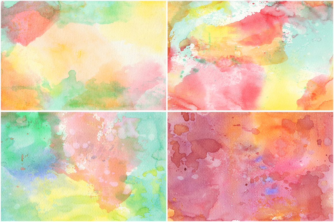 20 Watercolor Backgrounds 01 example image 3