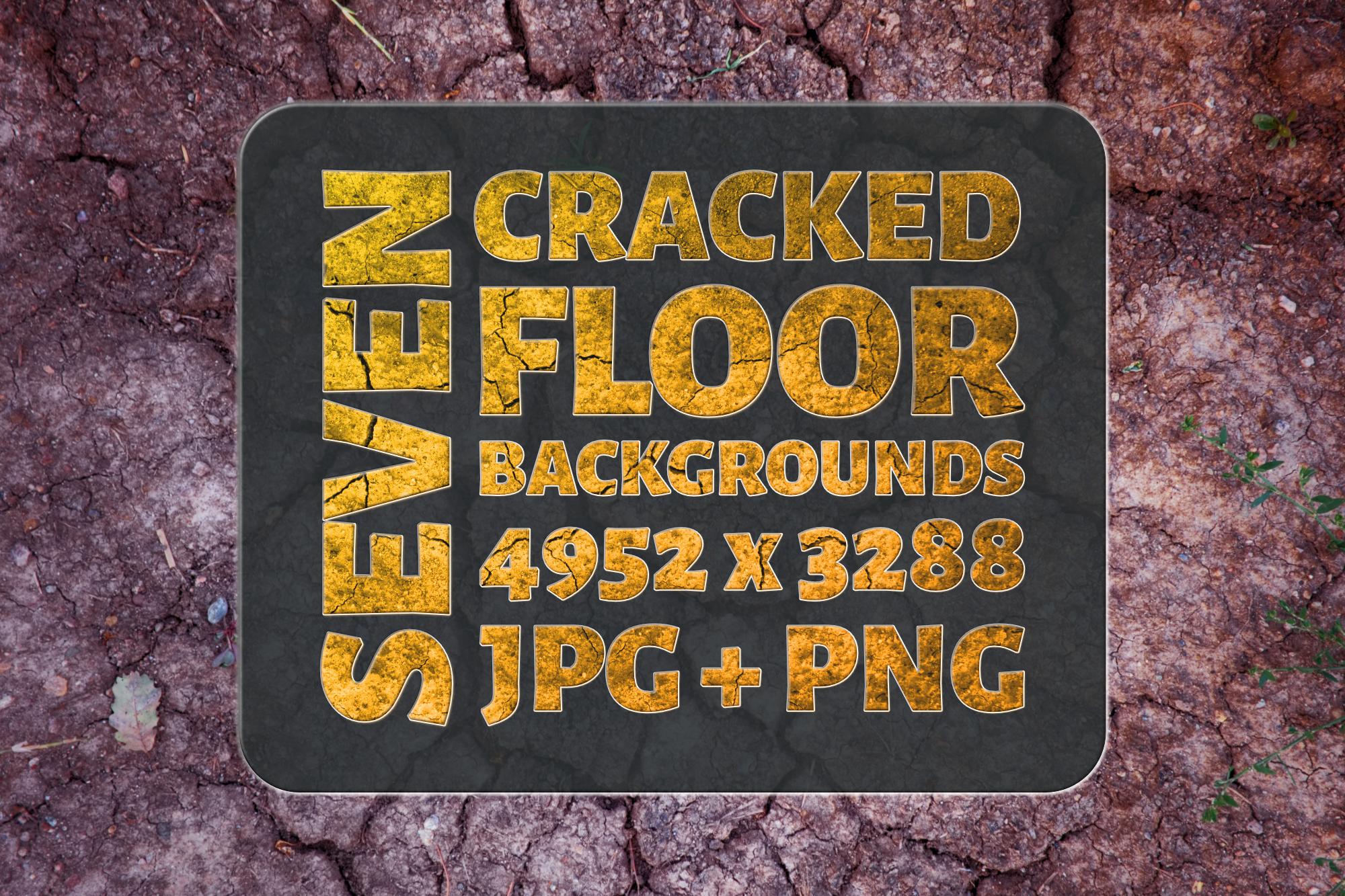 Seven Cracked Floor Backgrounds example image 1