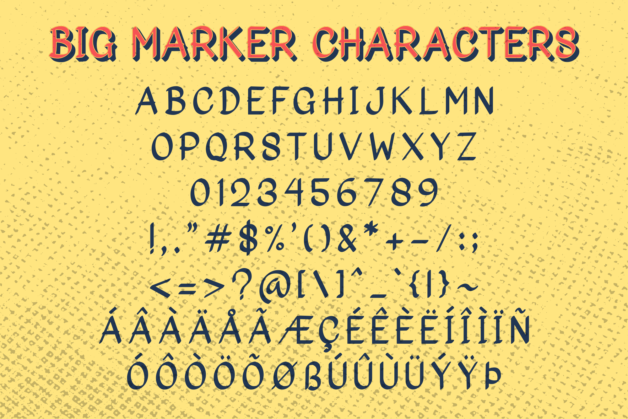 Big Marker Font Family example image 3