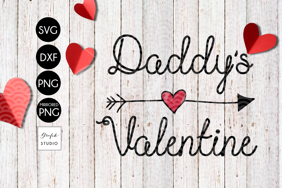 Daddys Valentine SVG File example image 2
