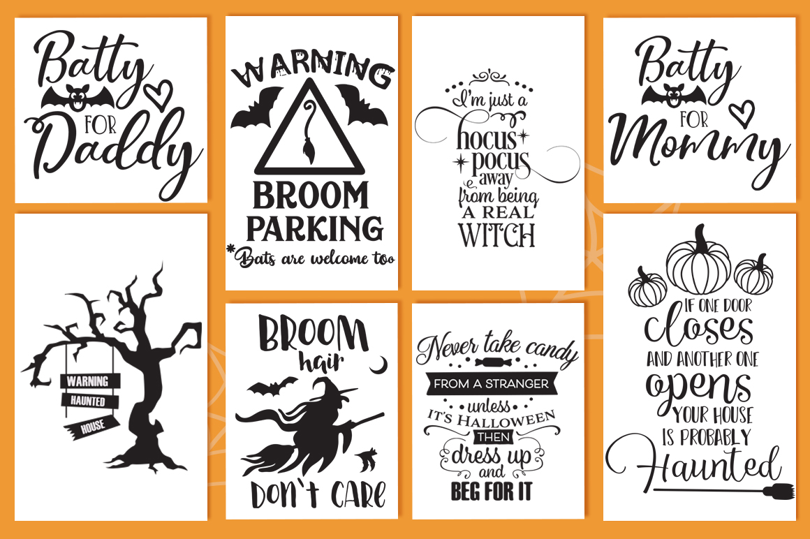 The Halloween SVG Cut Files Pack with 30 Items example image 2