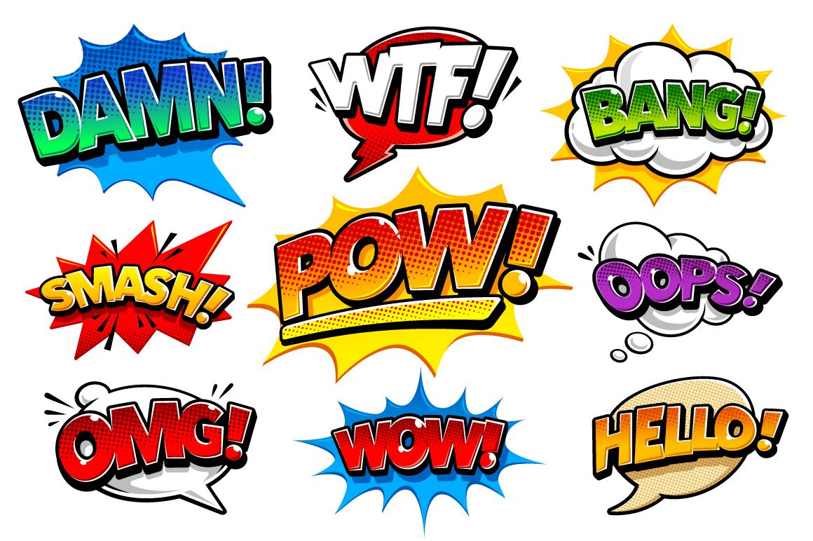 Comic Speech Bubbles example image 1