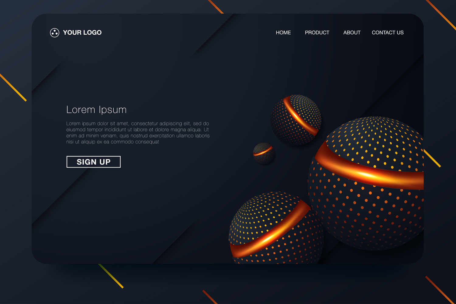 20 - Abstract background design. Landing page template example image 1