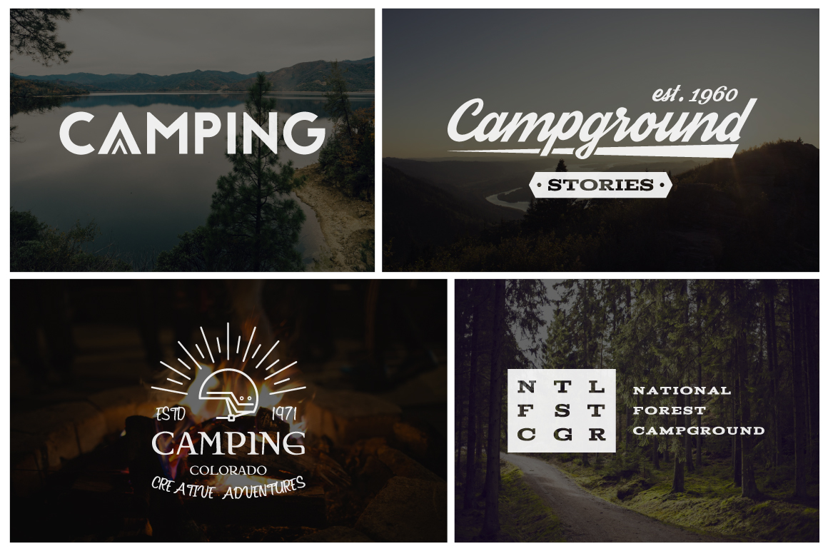 70% OFF Adventure Graphics Pack / Retro Logos Set / SVG's Collection / Icons example image 7