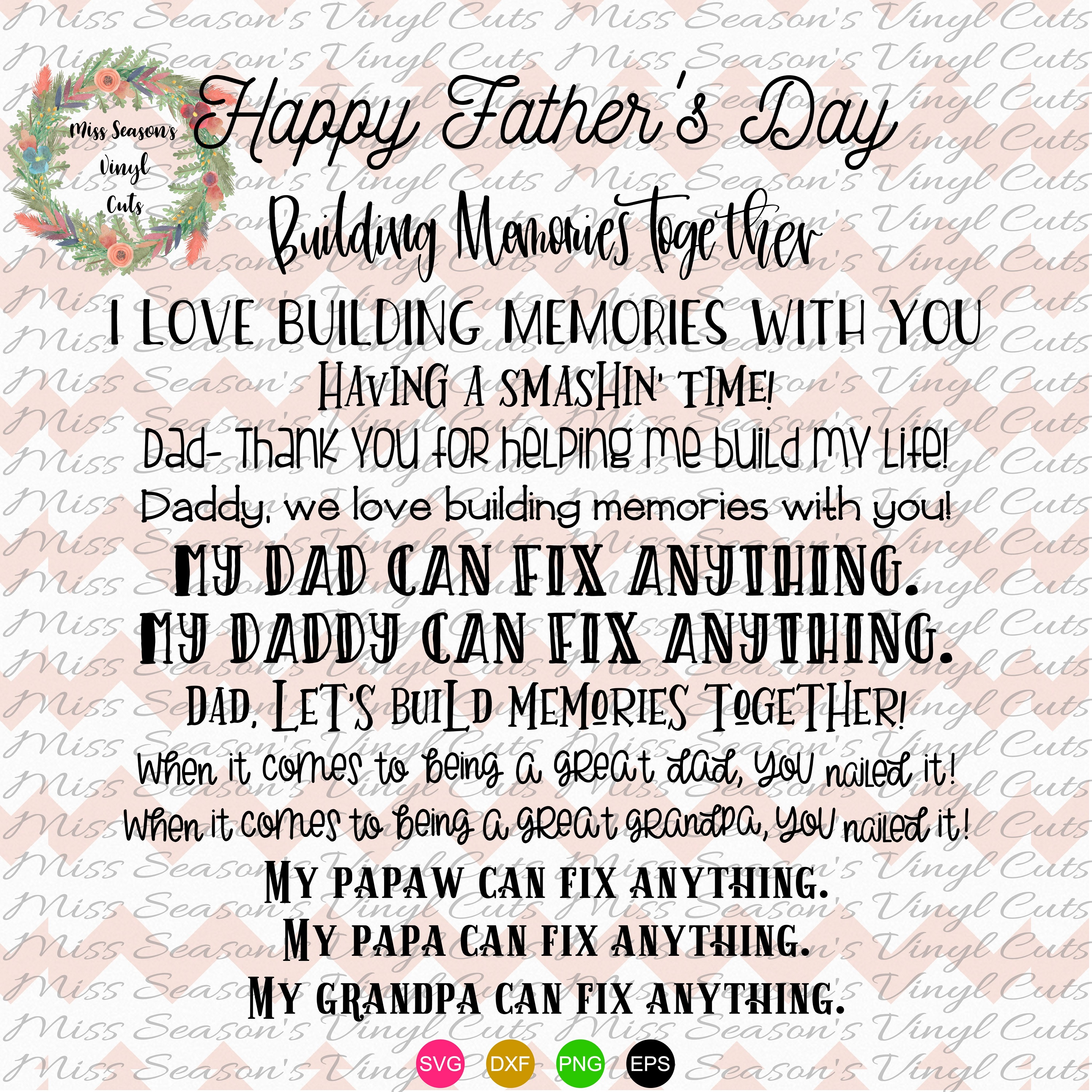 Fathers Day Hammer Bundle SVG Png Dxf EPS example image 2