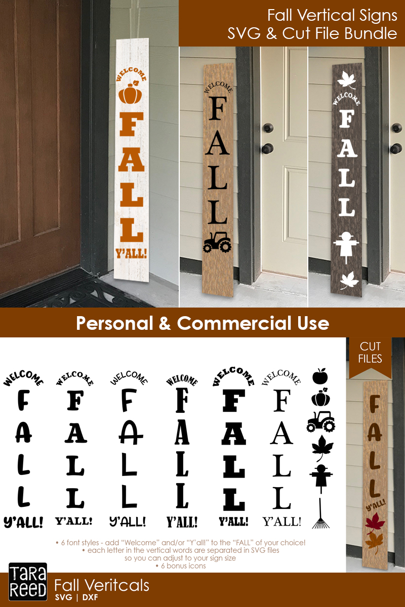 Fall Vertical Sign Bundle example image 2